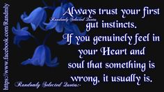 Trust in your own intuition