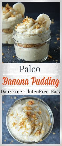 Paleo Banana Pudding- 6 ingredients and less than 20 minutes cook time. Dairy free, refined sugar free and so delicious!