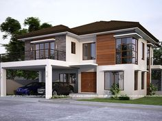 Visit the post for more. Zen House Design, 2 Storey House Design, Village House Design, House Front Design, Modern Zen House, Modern House Floor Plans, Style At Home, Philippines House Design, Philippine Houses