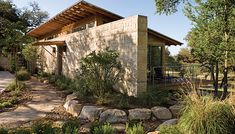 Rio Estancia - contemporary - Exterior - Austin - Craig McMahon Architects, Inc. Rustic Houses Exterior, Ranch Exterior, Lake Flato, Hill Country Homes, Stone World, American Houses, Modern Ranch, One Story Homes, Spanish Style Homes