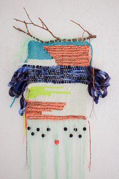 "Torrey Pines by Morgane ""Frimane"" Giner Art Fibres Textiles, Textile Fiber Art, Weaving Textiles, Weaving Art, Tapestry Weaving, Hand Weaving, Weaving Wall Hanging, Arts And Crafts, Diy Crafts"