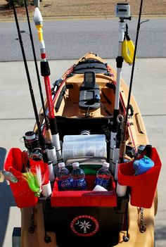 Kayak Fishing If you fish out of a kayak, chances are you own a kayak crate. I've built a lot of these things in the past few years, mainly starting . Kayak Fishing Accessories, Kayak Fishing Gear, Kayak Camping, Canoe And Kayak, Best Fishing, Fishing Boats, Fly Fishing, Kayaking Gear, Saltwater Fishing