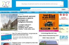 Home page del sito internet dedicato a Expo Milano 2015: www.newsexpo2015.eu.