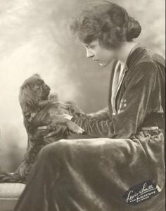 Pekingese with Ruth Chatterton