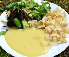 """Vegán zsírmentes """"sajtszósz"""" (gluténmentes, tejmentes, tojásmentes, HCLF)"""