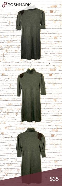 """Ralph Lauren Rugby merino wool olive sweater dress Beautiful!! Great condition!!! Nice style and quality item!!  16"""" chest measurements Rugby Ralph Lauren Dresses"""