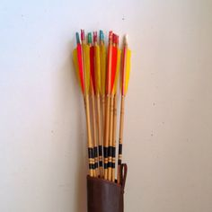 vintage archery arrows and quiver by ImSoVintage on Etsy, $40.00