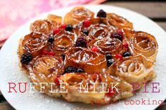 igloo cooking: Ruffle milk pie