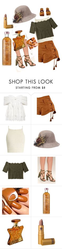 """""""o-live earth tones"""" by kkornak on Polyvore featuring Sea, New York, SHE MADE ME, Hollister Co., So Me, Fresh, Bond No. 9, Lipstick Queen and Hervé Van Der Straeten"""