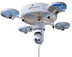 50m tethered hovermast remote surveillance module