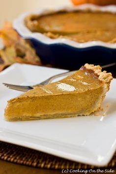 Chai Pumpkin Pie (as an idea--use my favorite recipe rather than this one, which is for reference :) )