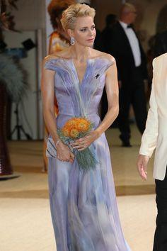 Pin for Later: Darum hat Prinzessin Charlene dieses Kleid geheim gehalten