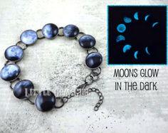 Moon phaces bracelet (glowa in the dark)