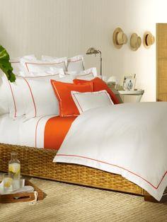 Orange Palmer Duvet - Ralph Lauren Home Duvet Covers - RalphLauren.com