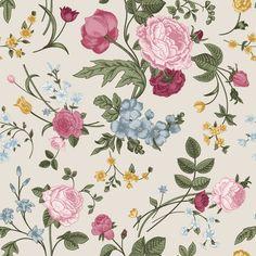 Spring Bouquet  Removable Wallpaper  WallsNeedLove