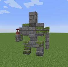 Iron golem statue I made, inspired by u/Retep17. - Minecraftbuilds Minecraft Creations, Minecraft Projects, Minecraft Crafts, Minecraft Stuff, Minecraft Ideas, Minecraft Iron, Minecraft Medieval, Minecraft Statues, Minecraft Buildings
