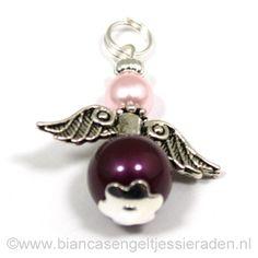 Hangertje Engeltje Vlinder Libelle Crystal Blackberry Rosaline www.biancasengeltjessieraden.nl