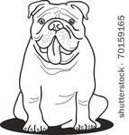 illustration of bulldog for...