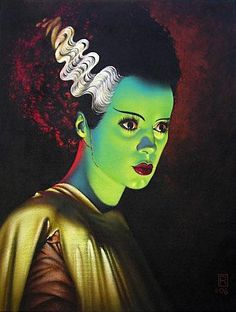 The Bride Of Frankenstein - totally unique & not afraid to be herself even though she was created from parts & pieces of others!