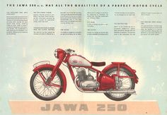 Bike Poster, Motorcycle Posters, Moto Jawa, Cafe O, Bike Brands, Old Bikes, Old Ads, Illustrations And Posters, Motorbikes