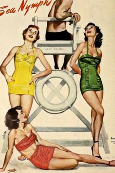 The American Pin-up Mode Vintage, Vintage Ads, Vintage Posters, Vintage Trends, Vintage Purses, Vintage Bathing Suits, Vintage Swimsuits, Lingerie, Vintage Outfits