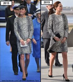 Kate Middleton, Duchess of Cambridge. Hobbs Dalamtion Print Mac (£169). June 2013 vs March 2015