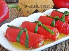 Közlenmiş Kırmızı Biber Sarması Tarifi (Resimli Anlatım) | Kolay ve Pratik Resimli Yemek Tarifleri | Göbeğim