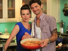 Guest contributor Gabriele Corcos and his wife Debi Mazar star in Extra Virgin, Monday-Friday at 1 and 1:30pm ET Actress Debi Mazar and her Italian husband, Gabriele Corcos, invite you into their home as they share their tremendous passion for Tuscan food and for each other. bing.com/images