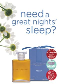 Need a great Night's sleep? Aromatherapy Associates, Deep Relax Bath & Shower Oil    http://www.thespabreckenridge.com/about/amenities-gallore/