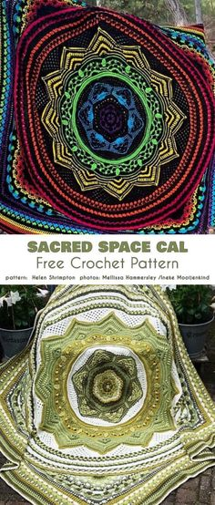 Sacred Space Cal Blanket kostenlose Häkelanleitung gestrickt ideen The Effective Pictures We Offer You About Crochet mantas A quality picture can tell you many things. Crochet Crafts, Easy Crochet, Crochet Projects, Free Crochet, Knit Crochet, Crochet Ideas, Yarn Projects, Diy Crafts, Crochet Mandala Pattern
