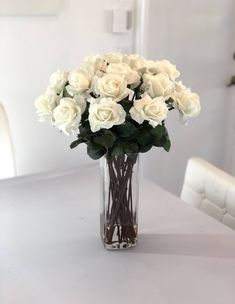 Cream Roses, Silk Roses, White Roses, White Rose Centerpieces, Faux Flower Arrangements, Faux Flowers, Large White, My Etsy Shop, Touch