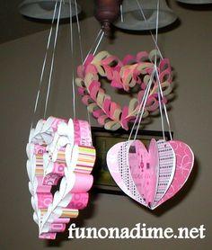 Valentine's Paper Decoration 1 #valentinesday #kidscrafts #pink #craftsforkids #kids #hearts #valentinecrafts