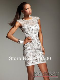 2013 New Arrival Summer Short Cap Sleeve Jewel Neck See Through With Bead Satin Lining Sheath Mini Length Cocktail Dresses White-in Cocktail Dresses from Apparel & Accessories on Aliexpress.com