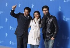 Shahrukh Khan, Kajol & Karan Johar at My Name is Khan's Press Meet at 60th Berlin Film Festival 2010.