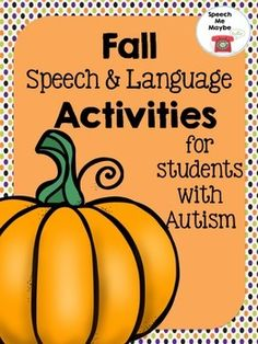 Tons of Fall activities all in one packet. Perfect to use with students on the autism spectrum or related disabilities.