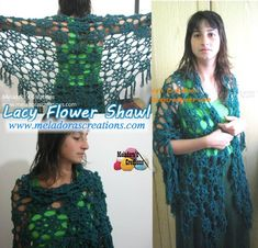 Lacy Flower Shawl Combined Pic 2