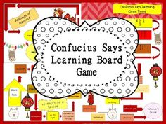 Price $1.00 This terrific game board can go along with a study of China, Asia, and Confucius.This game board invites cooperative style learning with fun and laughter.Confucius Says Learning Game Board can be used as game with Confucius Says Vocabulary task cards, sold separately.