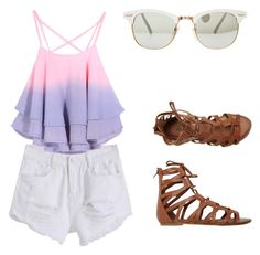 """Ombre-tastic"" by trendyari ❤ liked on Polyvore"