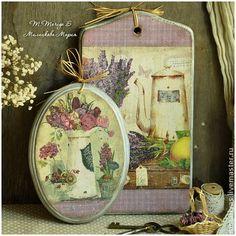 """Набор разделочных досок/панно """"Bonjour les Fleurs!"""" - подарок,для кухни"""