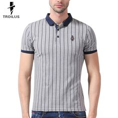 Find More Polo Information about Troilus 2016 New Fashion Mens Polo Shirt Striped Slim Fit Short Sleeve Polo Men Clothing Summer Trend Polos Shirts Hombre Casual,High Quality shirt holister,China shirt bag Suppliers, Cheap clothing shirt from Troilus Flagship Store on Aliexpress.com