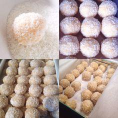 Malibu Snowballs (coconut rum balls) More