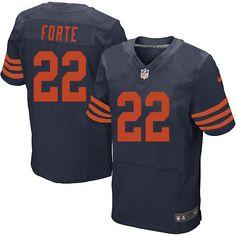 $89.99 Men's Nike Chicago Bears #22 Matt Forte 1940s Limited Throwback Alternate Navy Blue Jersey