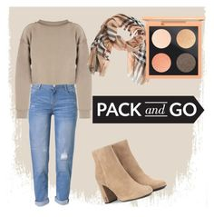 """""""Pack and go"""" by petite-souris ❤ liked on Polyvore featuring WithChic, My Mum Made It, Yves Saint Laurent and Burberry"""
