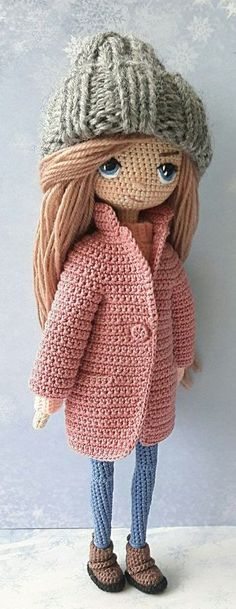 Awesome and Cute Amigurumi Doll Crochet PAttern Ideas Part amigurumi patterns free; amigurumi doll Awesome and Cute Crochet Motifs, Crochet Amigurumi Free Patterns, Knitted Dolls, Crochet Dolls, Doll Patterns Free, Pattern Ideas, Amigurumi Doll, Stuffed Toys Patterns, Baby Toys