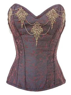 Brown overbust corset from victoriandreams.nl