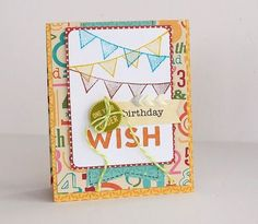 Birthday wish card by Sarah Webb featuring Jillibean Soup Birthday Bisque