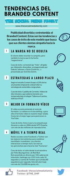 Tendencias del Branded Content. Infografía en español. #CommunityManager