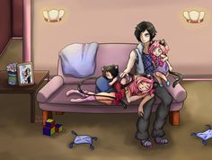 Commission - Warmth of Family by Tears-of-Xion on DeviantArt Zane And Kawaii Chan, Zane Chan, Aphmau Emerald Secret, Zane Romeave, Aphmau Wallpaper, Aphmau My Street, Minecraft Fan Art, Minecraft Girl Skins, Aarmau Fanart