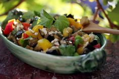 Eggplant Salad With Peppers, Mint and Caper-Feta Vinaigrette Recipe - NYT Cooking