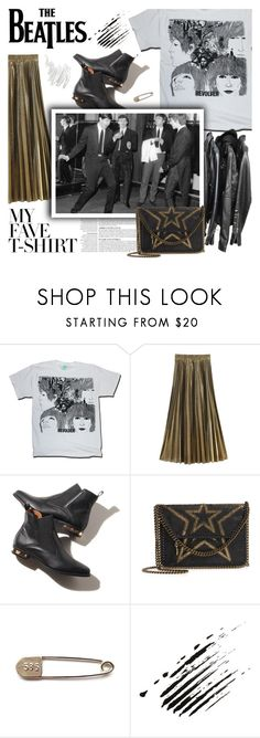 """""""twist and shout"""" by amadahy ❤ liked on Polyvore featuring Anja, STELLA McCARTNEY, Napoleon Perdis and MyFaveTshirt"""